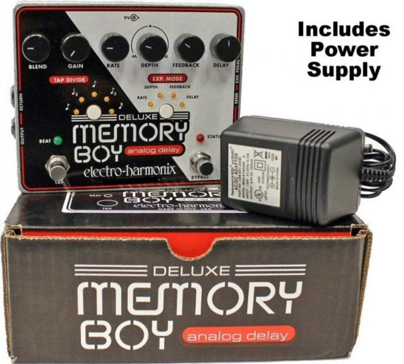 Image 0 of Electro Harmonix Deluxe Memory Boy Tap Tempo Analog Delay with Power Supply