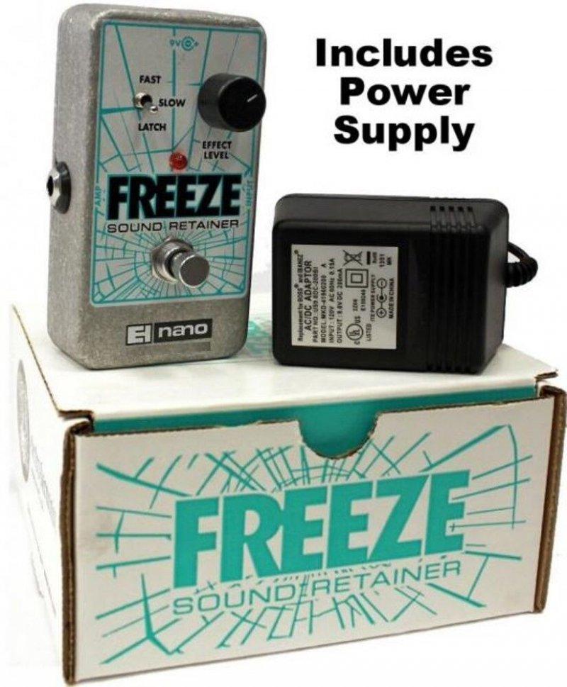 Image 0 of Electro Harmonix Freeze Sound Retainer Sustain Sustainer Pedal w/ Power Supply