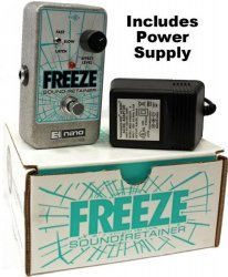 Electro Harmonix Freeze Sound Retainer Sustain Sustainer Pedal w/ Power Supply