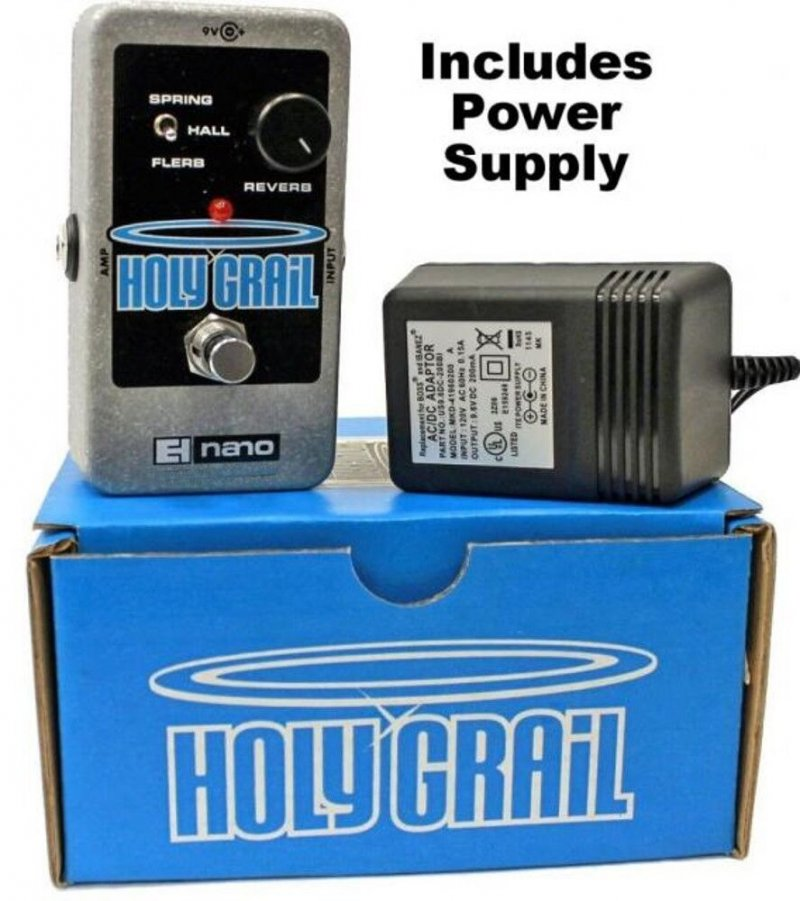 Image 0 of Electro Harmonix Holy Grail Nano Reverb Guitar Pedal with Power Supply