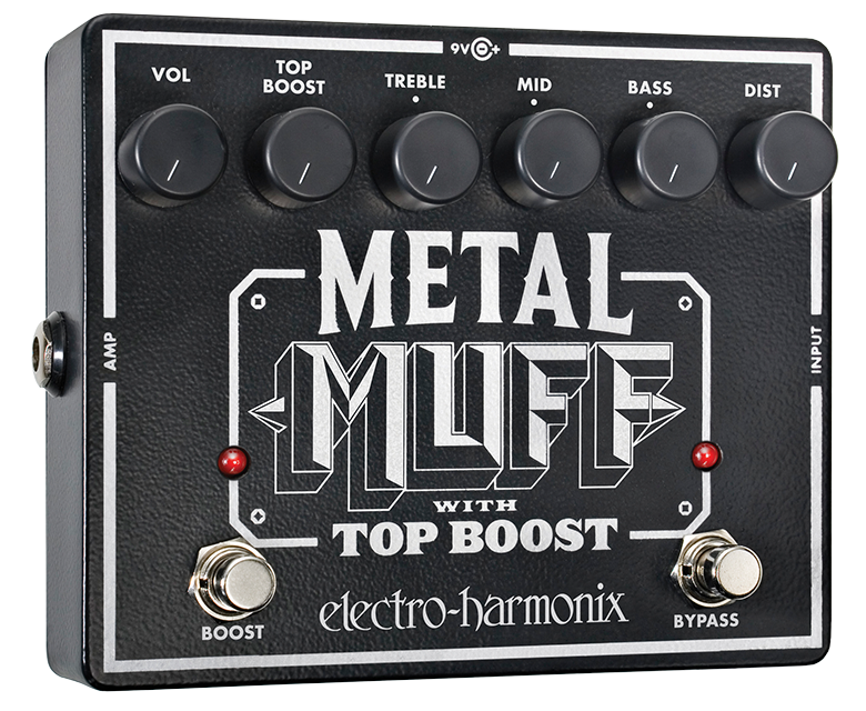 Image 0 of Electro Harmonix Metal Muff Distortion with Top Boost Guitar Pedal w/ 9V Battery