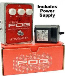 Electro Harmonix Micro POG Polyphonic Octave Generator Pedal with Power Supply