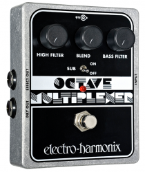 Electro Harmonix Octave Multiplexer Sub Generator Guitar Pedal w/ 9 volt Battery