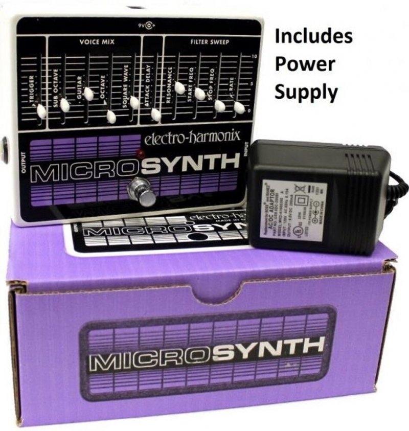 Image 0 of Electro Harmonix Microsynth Analog Guitar Synthesizer Pedal w/ Power Supply