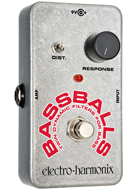 Image 0 of Electro Harmonix BassBalls Nano Envelope Filter / Distortion Pedal w/ 9V Battery