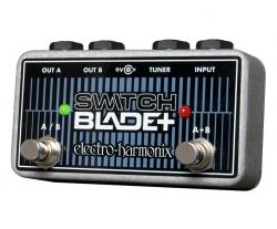 Electro Harmonix Switchblade + Plus Channel Selector Guitar Pedal A/B w/ 9V Batt