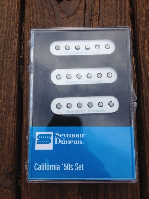Image 3 of Seymour Duncan SSL-1 California 50's Single Coil Set Fender Stratocaster Black