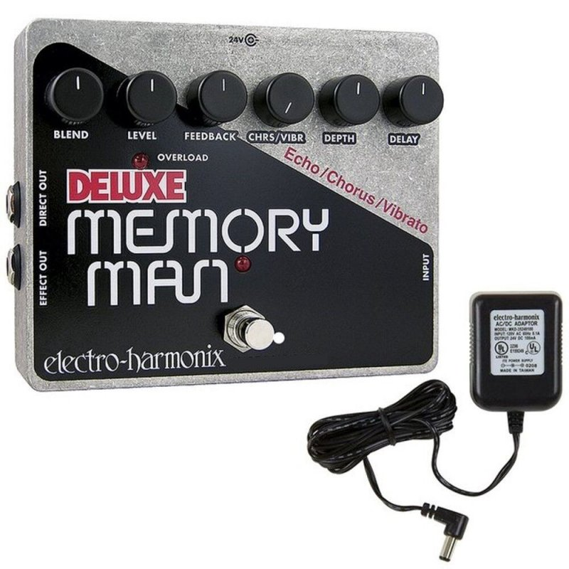 Image 0 of Electro Harmonix Deluxe Memory Man w/ Power Supply 550mS Delay/Chorus/Vibrato
