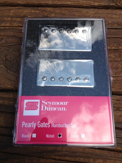 Image 3 of Seymour Duncan Pearly Gates Bridge & Neck Pickup Set Nickel 11108-49-NC