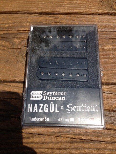 Image 3 of Seymour Duncan Nazgul / Sentient 7 String Pickup Set Black 11108-96-B7