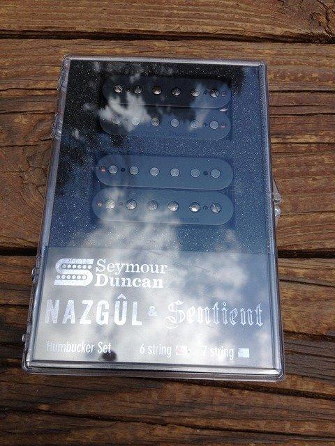 Image 3 of Seymour Duncan Nazgul / Sentient 6 String Humbucker Pickup Set Black 11108-96-B