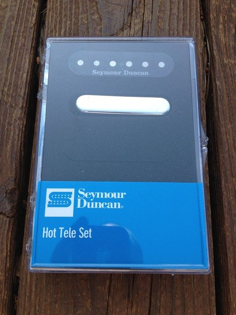 Image 3 of Seymour Duncan Hot for Tele Pickup Set Fender Telecaster Bridge & Neck 11208-11