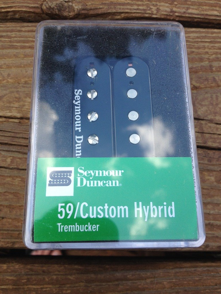 Image 3 of Seymour duncan  TB-16 59 Custom Hybrid Bridge Trembucker Black Humbucker Pickup