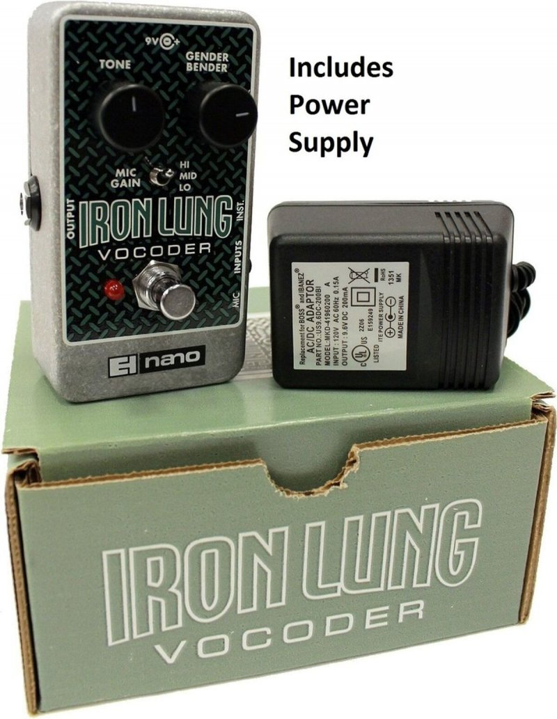 Image 0 of Electro Harmonix Iron Lung Vocoder Pedal w/ AC Adapter Vocal Effects Stomp Box