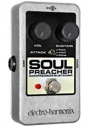 lectro Harmonix Soul Preacher Compressor Sustainer Pedal w/ 9V Battery