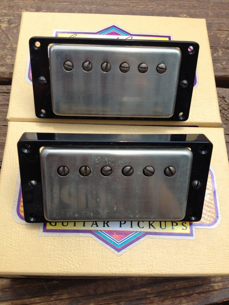 Image 3 of Seymour Duncan Antiquity Humbucker Pickup Set Aged Nickel 1950's P.A.F. Pickups