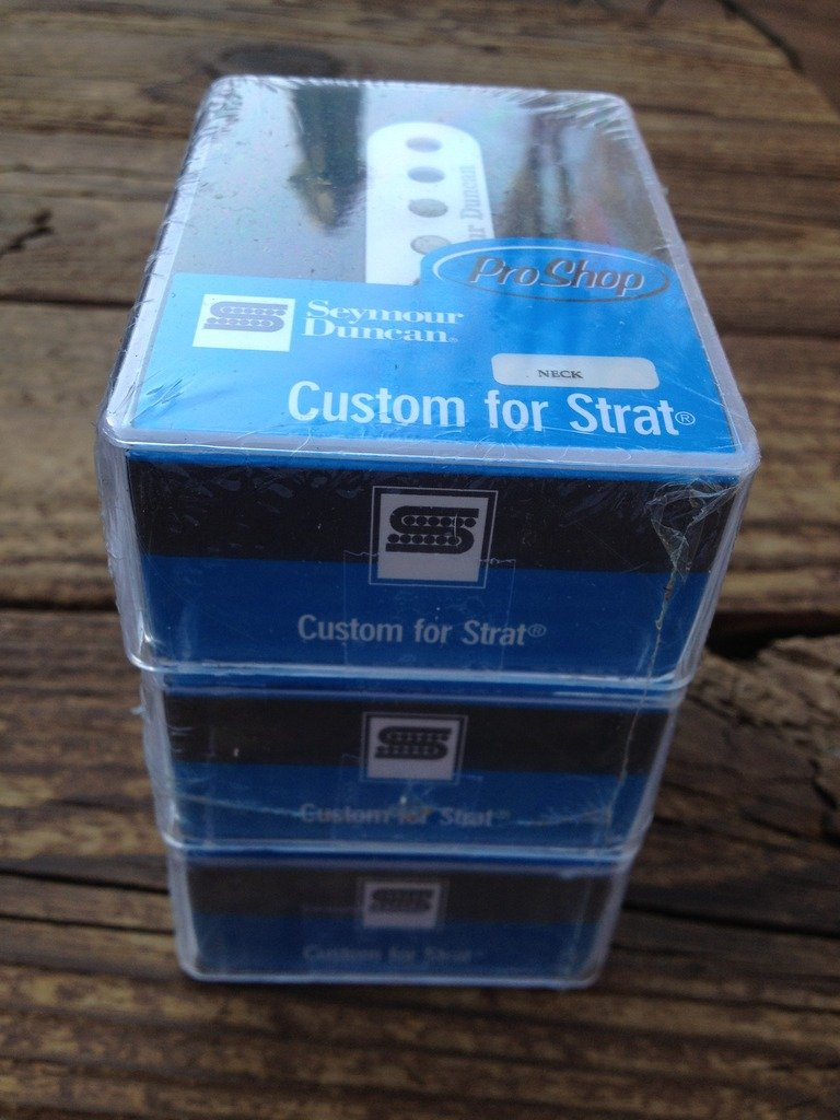 Image 2 of Seymour Duncan Custom Staggered STRAT SSL-5 Calibrated Pickup Set Stratocaster