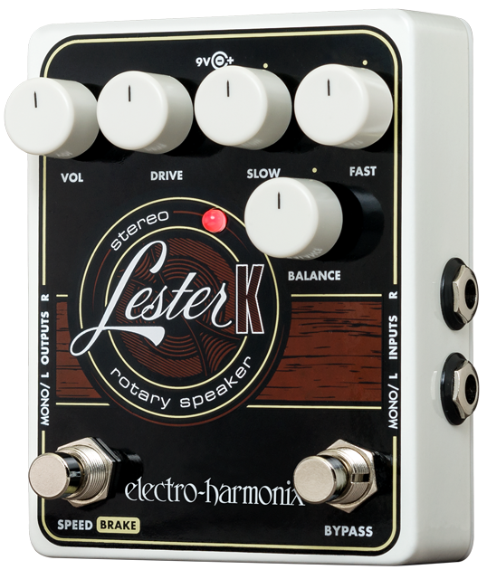 Image 0 of Electro Harmonix Lester K Stereo Rotary Speaker Pedal Emulator w/ Power Supply