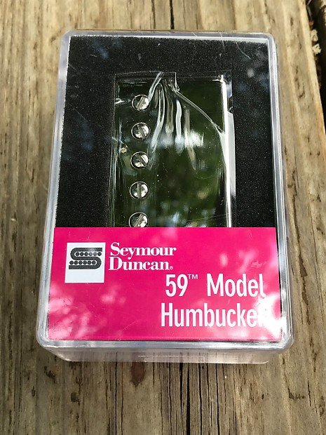 Image 0 of Seymour Duncan SH-1b 59 Model Bridge Humbucker Pickup NICKEL Cover
