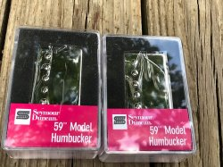 Seymour Duncan Vintage Blues Humbucker Pickup Set SH-1 59 NICKEL COVERS